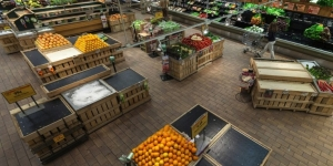 Fruits and vegetables without honey bees at Whole Foods